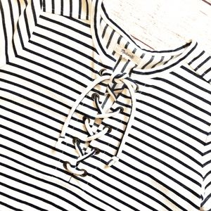 Madewell Striped Top   Summer Days Tie Front Top